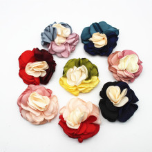 Handmade Diy  Accessories Mixed Color Burning Edge Flower Headdress Hair Clothing Decoration
