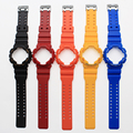 Hot sale Silicone Strap 16mm Colorful Rubber Watchband + Watchcase  For  CasioGD-100/GA-100/GA-300/GA-110/GA-120/G-8900