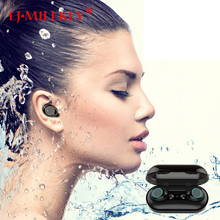 Bluetooth 5.0 IPX8 Waterproof Touch Control Hifi Earphones with Mic TWS Wireless Earbuds Stereo for Phone with Charge Base YZ205 orunjo s2 tws wireless bluetooth earphones v5 0 touch control mini earbuds sport hifi stereo headset with mic charge power box