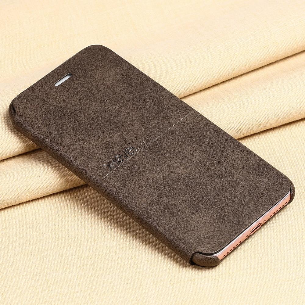 imágenes para X Nivel 5S Extrema PU Cuero Caso Del Teléfono Del Tirón Para el iphone 6 6 s más 7 más de Lujo Cubierta del Caso del soporte