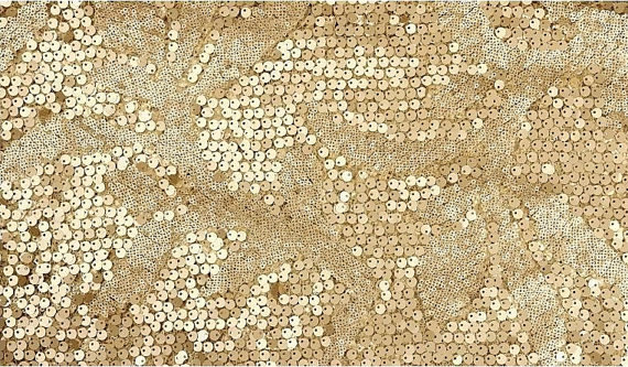 2 yards Gold Sequin Fabric,Super Luxury Wedding Bridal Gown Dress ...