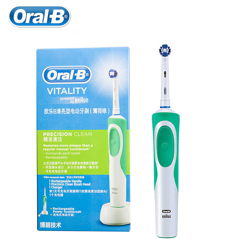 Oral B Vitality Electric Toothbrush Precision Clean Teeth Inductive Charge Replacement Brush Head image
