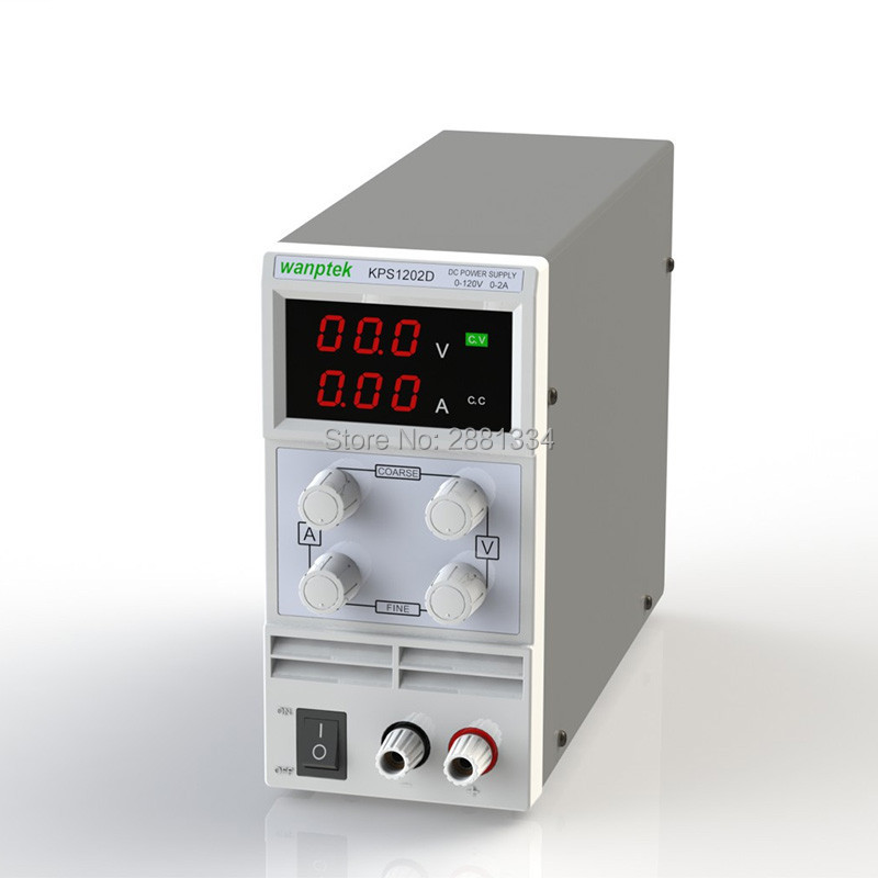 ФОТО Wanptek KPS1202D Adjustable Variable Portable Mini DC Switching Power Supply Output 0-120V 0-2A Support AC110-220V
