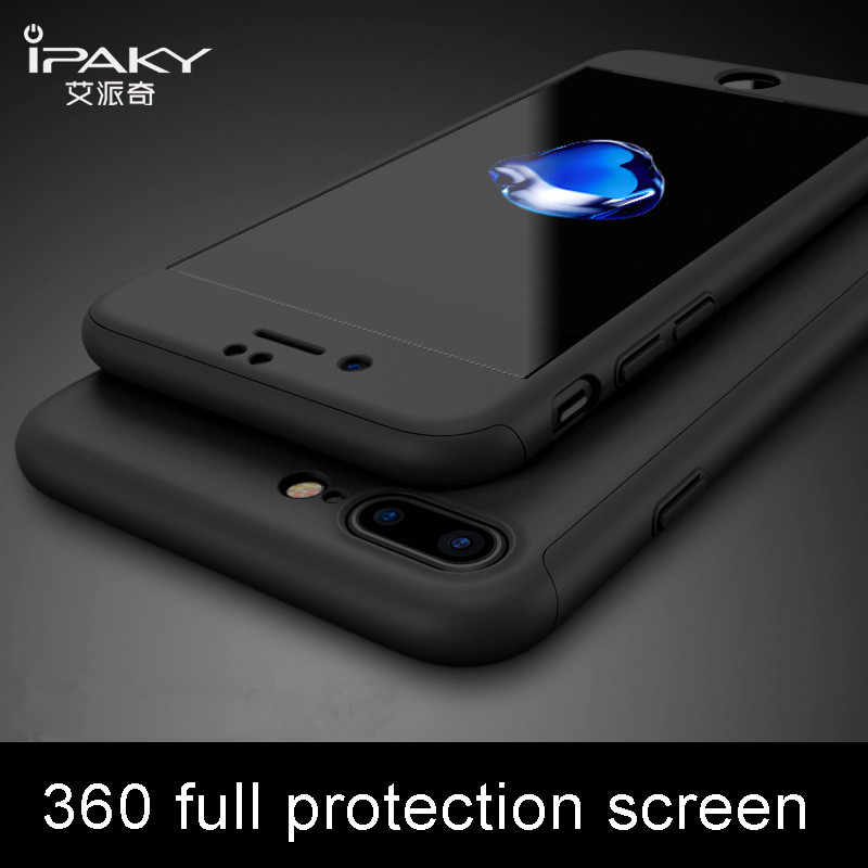 606f9ce2a3b169 ipaky For Apple iPhone X Case 360 Full Protective + Glass Flim Hard PC Case  cover