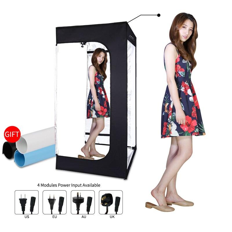 200cm x 120cm x 100cm Dimmable Photo Studio éclairage Softbox boîte à lumière pliant photographie toile de fond kit de tente de tir