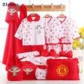 Mamalove новорожденный девушки одежда хлопок 17-21 шт. 0-6months младенцев baby girl мальчики комплект одежды младенца подарочный набор без коробки