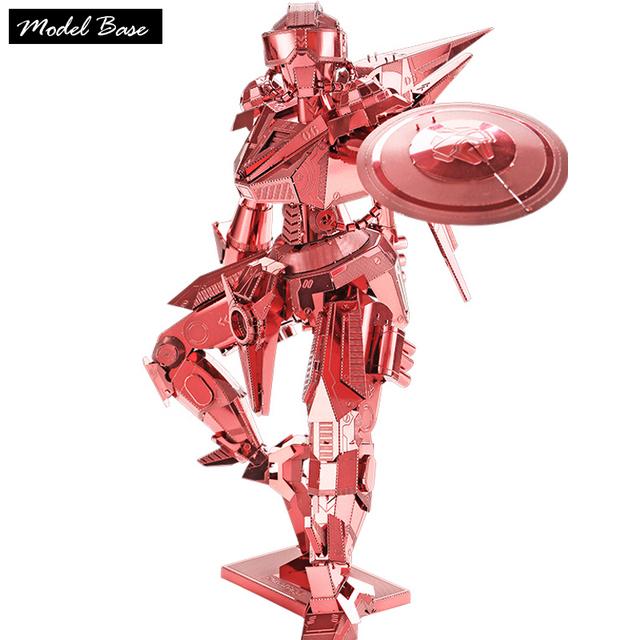 Adultos 3d puzzle teaser de metal diy crianças jogos educativos montados modelo dimensional 3d jigsaw puzzle robô treinamento homens