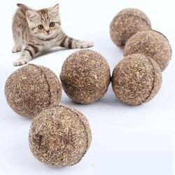 Chat pour animaux de compagnie naturel cataire traiter balle faveur maison chasser jouets sain sûr comestible traiter