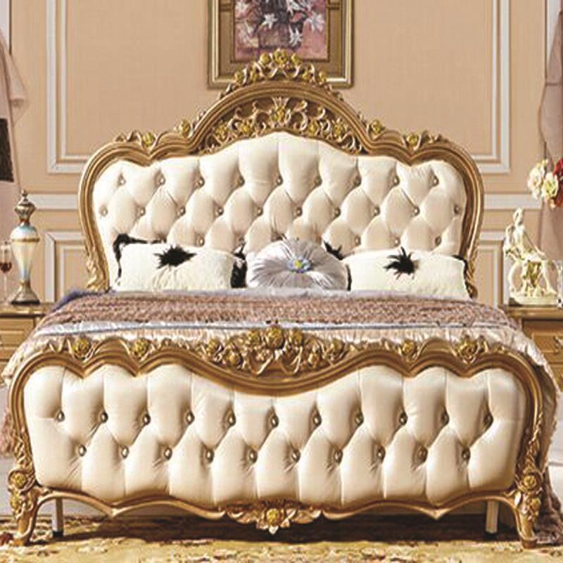Princesa Barroco italiano Dormitorio Muebles Rey Cabecera Roble ...