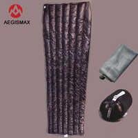 封筒白ダウン AEGISMAX 95% ホワイトグースダウン UL 冬寝袋キャンプ Urltra-コンパクト超軽量ダウン寝袋