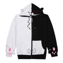 XCJLW Anime Danganronpa Monokuma Cosplay Costume Unisex Hoodie Sweatshirt Hooded