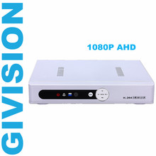 4CH 1080N 1080P AHD DVR NVR 4 channel for 1080P Analog HD AHD CCTV Camera  Network digital video audio recorder IP Camara