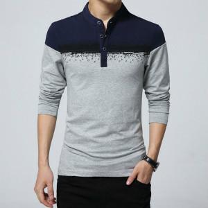Diseño polo camisetas para hombre de manga larga camisa de polo más tamaño 6xl gris navy primavera camisa casual camisa de polo camisa polo masculina