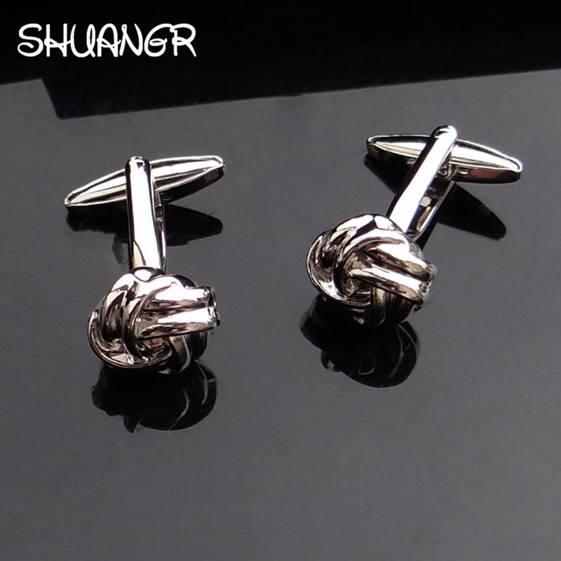 SHUNAGR Free Shipping Black Cufflinks For Men Fashion Design Top Quality Copper Hot Sale Cufflinks Whoelsale&retail