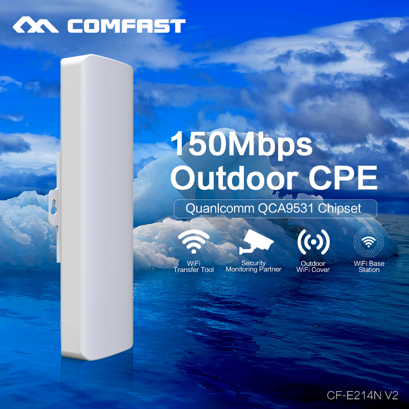 2pcs COMFAST 150M Wireless bridge CPE AP Router Repeater Client four mode 2 4G WIFI Signal