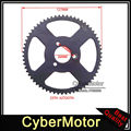 Black 25H 62 Tooth Rear Chain Sprocket For Chinese 2 Stroke 47cc 49cc Engine Chinese Mini Moto Motorcycle Pocket Bike Minimoto