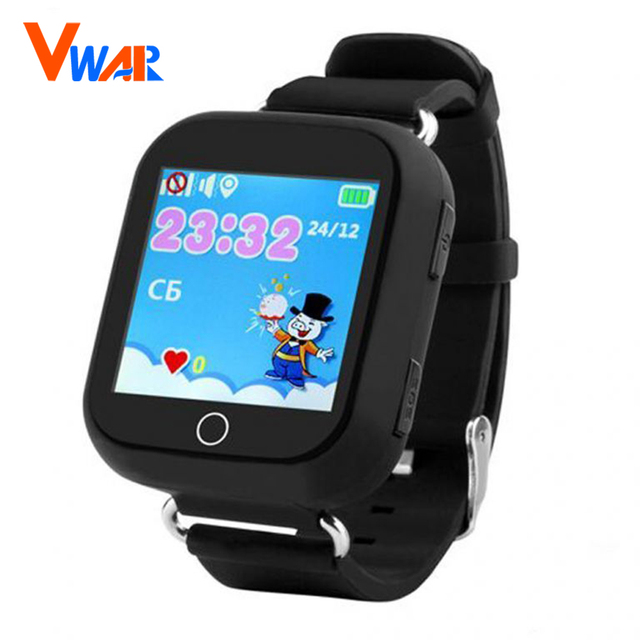 Vwar GW200S Q100 Baby GPS Watch with Wifi Positioning 1.54 Inch Color Touch Screen SOS Tracker Safe Anti-Lost Kids GPS Watch