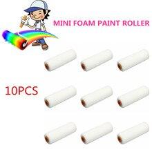 10 шт 100 мм Мини Белые прочные поролоновые валики для краски, губчатые валики для украшения, художественные наборы, принадлежности для рисования