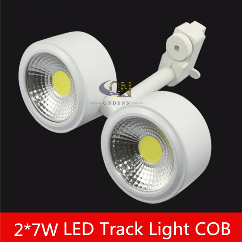 Ceiling Lights & Fans Double Led Track Light 7x2w 14w White Energy Saving Rail Light Decorate Lamp Store Light High Quality High Lumens Lamp 3 Years Online Shop