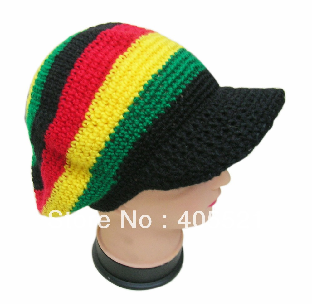 Knitting Patterns For Rasta Hats : Aliexpress.com : Buy Rasta Hat Beanies Knit Hats Beret Crochet Slouchy Tam Re...