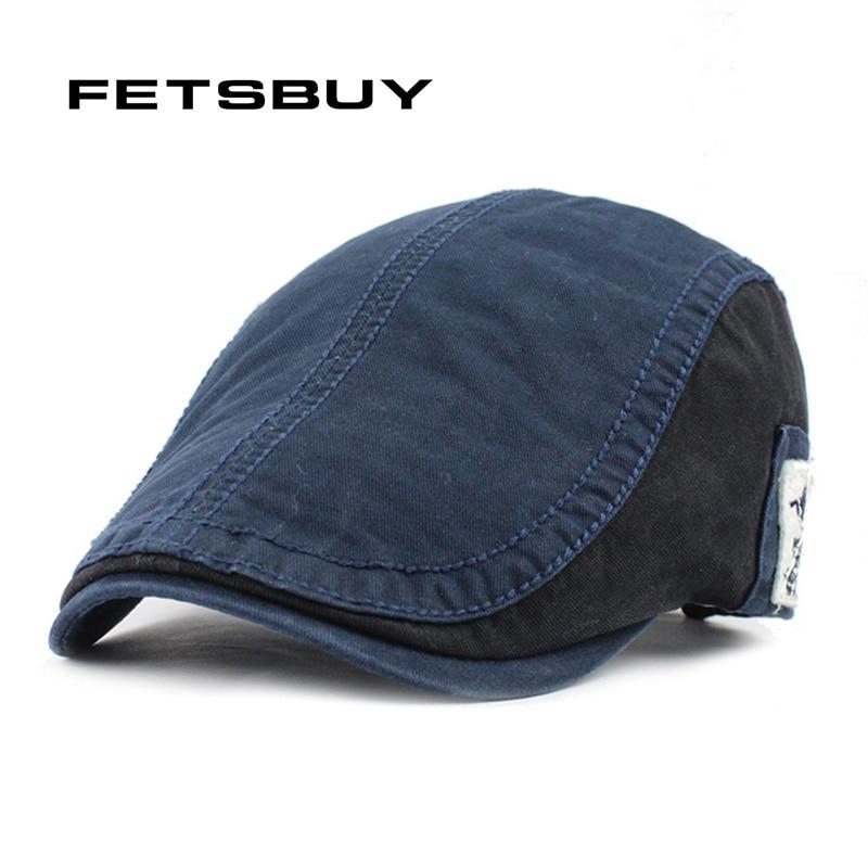 FETSBUY vairumtirdzniecības modes berete cepure Casquette cepure kokvilnas cepures vīriešiem sievietes vizuālie saules cepures Gorras planas regulējami griesti