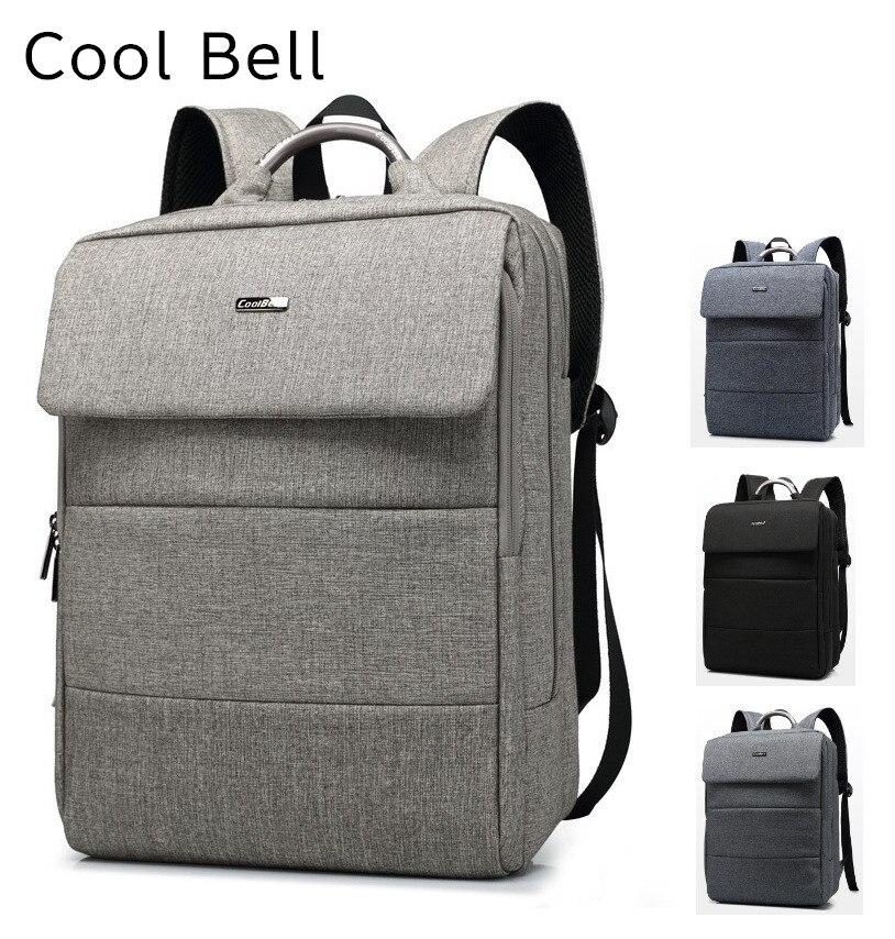 2017 Newest Brand Cool Bell Backpack For Laptop 15,15.4, 15.6,Notebook Bag, Shoulder Travel School Bag,Free Shipping 6707