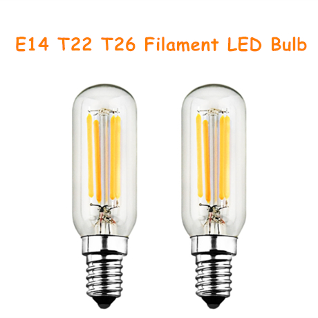 E14 T22 T26 Filament LED Light Bulbs Decorative Vintage 2W 4W AC 200-240V 200lm 400lm 2pcs Chandelier LED Lamp Bulb Incandescent