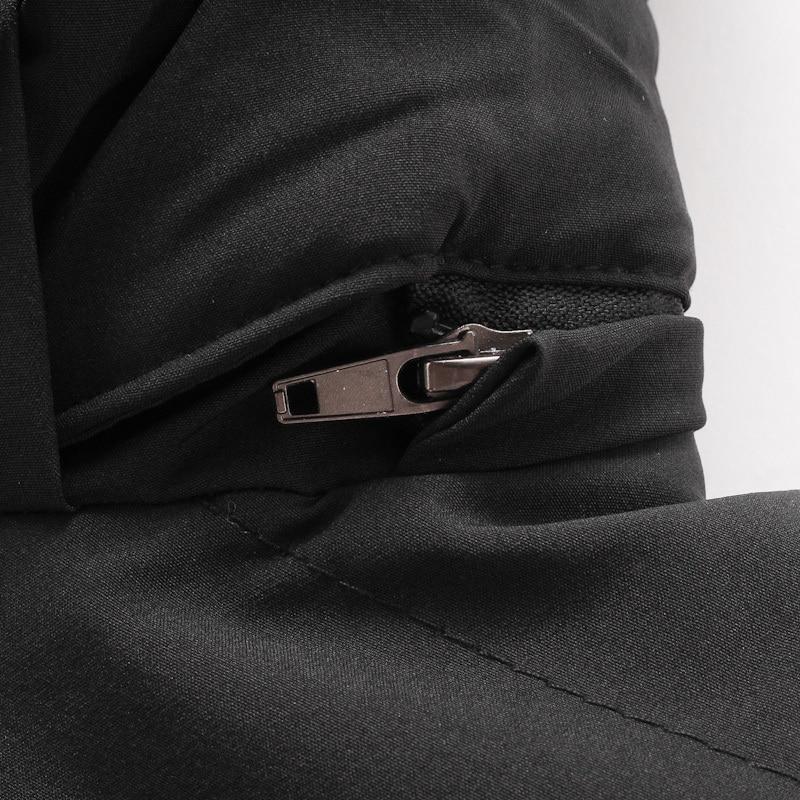 Più il Formato 8XL 7XL degli uomini di Inverno senza maniche Caldo gli uomini Della Maglia di cotone giacca con cappuccio della chiusura lampo maschio Gilet per L'autunno di sesso maschile gilet homme - 6