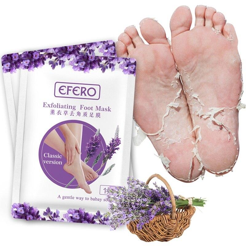 HOT Sale 1Pair Efero Exfoliating Foot Mask Exfoliating Foot Mask Skin Peeling Dead Remove For Pedicure Sock Foot Mask Spa TSLM1 2
