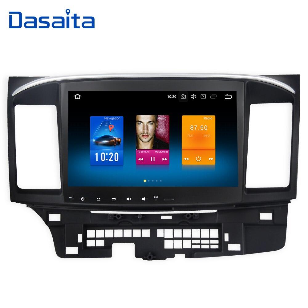Dasaita 10,2 Android 8,0 автомобиль gps плеер для Mitsubishi Lancer 10 EVO с 4 г + 32 г Octa core Авто Стерео Navi Радио мультимедиа