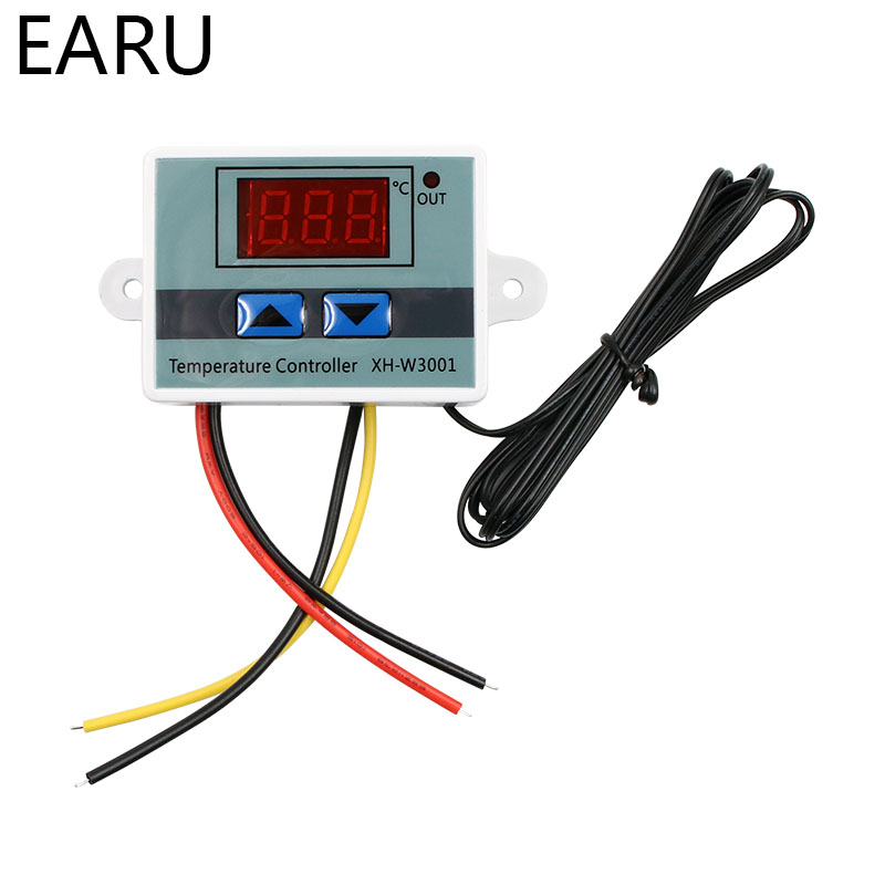 <font><b>XH</b></font>-<font><b>W3001</b></font> 10A Digital Temperature Controller 12V, 24V, 220V Quality thermal regulator Thermocouple thermostat with LCD display image