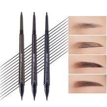 цена 1PC Double-End Eyebrow Pen With Fine Refill Waterproof Smudge-Proof Easy To Color Eyebrow Enhancers