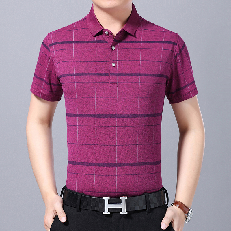 New Arrival Men Summer Slim Fit Casual   Polo   Shirt Males Striped   Polo   Shirts Short Sleeve