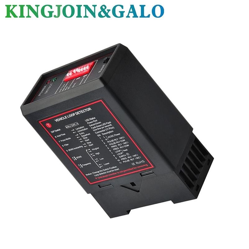 GALO 220V 110V 12V 24V Single Channel Inductive Loop Detector Vehicle For Automatic Barrier Boom Gate Opener