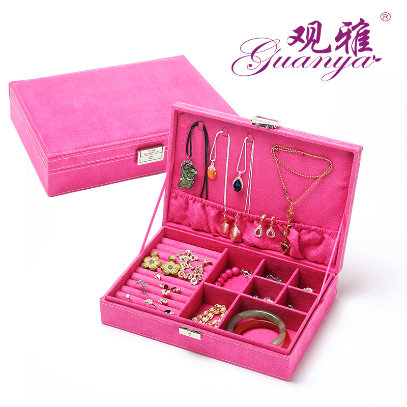 5 colors in Stock 2014 new Ring jewelry box ring storage box jewelry box large capacity jewelry box gift marriage 669-A8