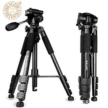 QZSD Q111 Professional Portable Camera Tripod Aluminum alloy with Q08 Rocker Arm Ball Head  FOR  Canon Nikon Sony SLR Camera professional q 668 pro slr camera aluminum alloy traveling tripod monopod with qzsd 02 changeable portable ball head 20%