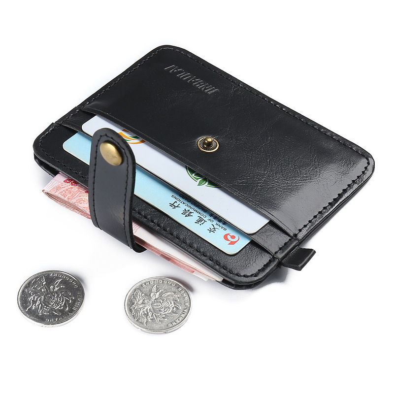 купить Hot Sale New Slim Credit Card Holder Mini Wallet Men's Simple Portable PU Leather ID Case Purse Bag Pouch Vintage Cards Holders онлайн