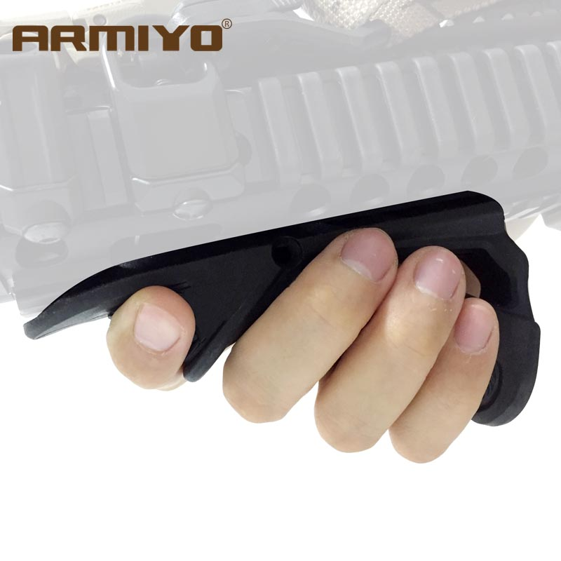 Armiyo Tactical Ergonomic Pointing Handle Grip Fits On 1913 Picatinny 20mm Gun Rail Shooting Hunting Accessories Black