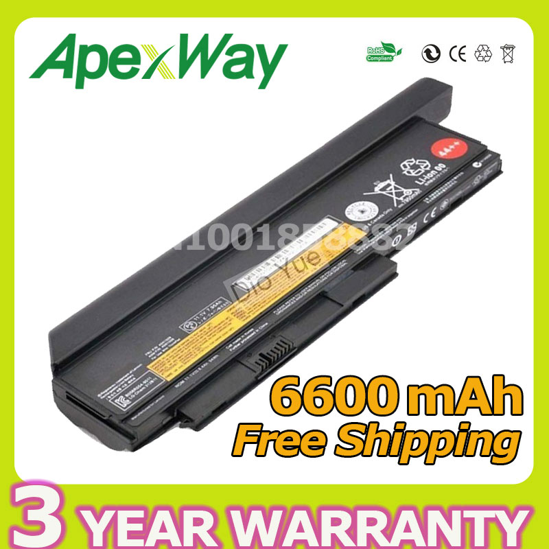 Apexway 9 cells 94Wh Battery for Lenovo ThinkPad X220 X220i X220s X230 X230i X230s 42T4901 42T4902 42Y4940 42Y4868 42T4873 4400mah laptop battery for lenovo thinkpad x230 x230i for tablet 0a36285 0a36286 42t4877 42t4878 42t4901