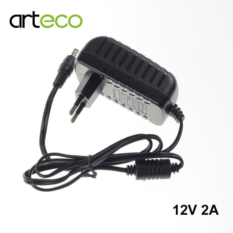 2A AC100-240V to DC 12V 2A power adapter for led strip LCD CCTV US/EU plug 12V Power Transformer
