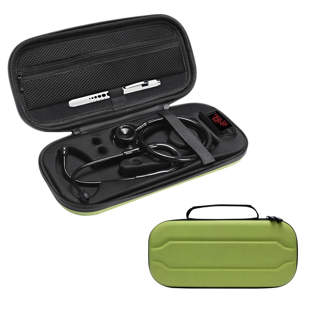 2018 New Top Stethoscope Hard Carrying Bag Case For 3M Littmann Classic III / MDF / ADC / Omron,Mesh Pocket for acceeories