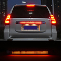 Luhuezu крышка двери Задняя Крышка багажника Крышка со светодиодным тормозным светом Стайлинг крышка для Toyota Land Cruiser Prado LC150 аксессуары 2018