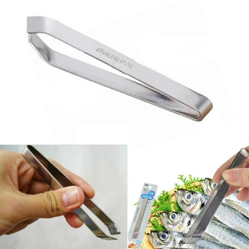 Roestvrij Staal Vis Pincet Visgraten Remover Pincer Puller Keuken Koken Tang Praktijk Huid Verwijderen Pincer Seafood Gereedschap
