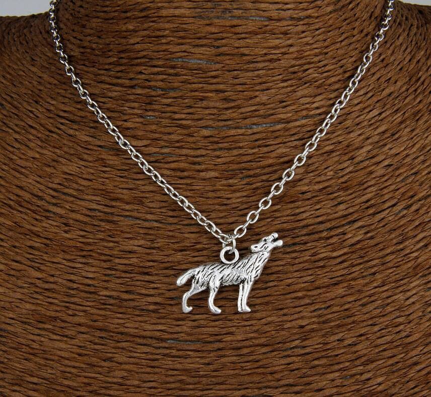 Hot Sale Unique Design Retro Silver Wolfhound Pendant Clavicle Short Special Necklace Fashion Jewelry Friendship Gift 6 pcs H179