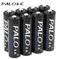 8pcs PALO 2500mAh 1 2V AA Battery Ni MH NiMH AA Rechargeable Battery With Safety Relief