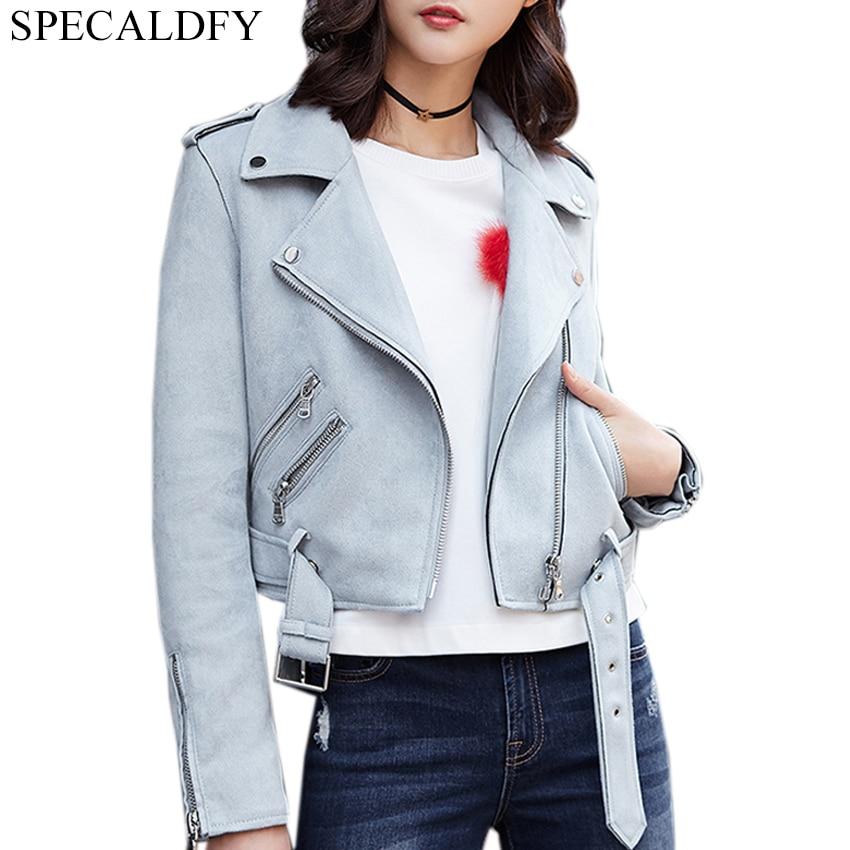 Autumn Winter   Suede   Faux   Leather   Jacket Women Short Jackets Basic Coats Fashion Zipper Motorcycle Coat Outwear Chaqueta Mujer