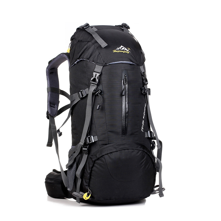 Large capacity Men travel rucksack Nylon Black Backpack Waterproof pack Mountaineering Bagpack Laptop Back pack For women 50L 55l men military backpack women casual laptop back bag large capacity male travel rucksack nylon black army backpack 2017