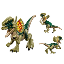 2018 New legoing 75931 307pcs Jurassic World The Dilophosaurus Front Gate Attack Building Block Toys For Children CGP21