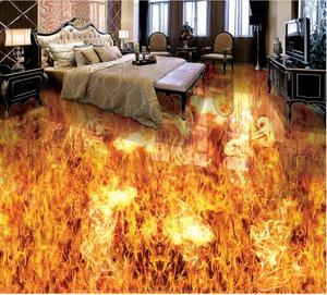 Настенные 3D-обои на заказ, ПВХ клейкие, с рисунком горящего пламени, для ванной комнаты, гостиной
