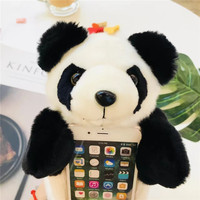 Case Cover For Xiaomi 5X 6 Mobile Phone Bag Soft Warm Rabbit Furry Fur TPU Back